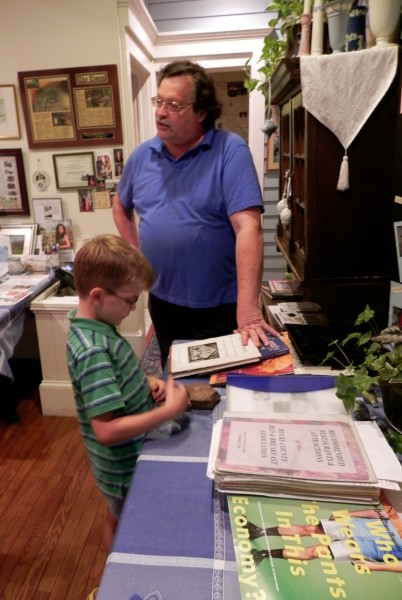 Carl taught us a lot about the history of New Hope and the Wedgwood Inn