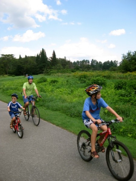 Biking on the Stowe, Vermont Recreation Path