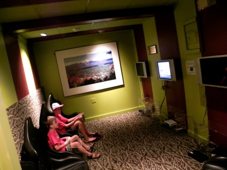 My boys thought the Topnotch Resort game room was super cool