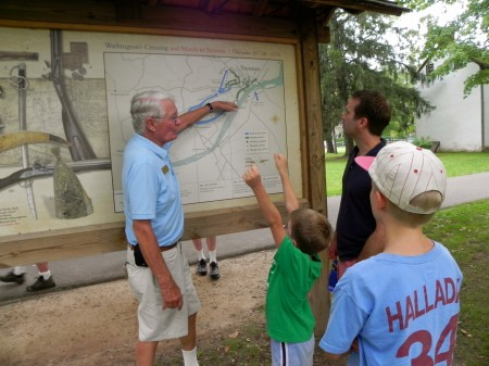 Tom showed us exactly where Washington went after he crossed the Delaware River