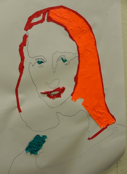 The Mona Lisa in duct tape - see her mysterious smile?