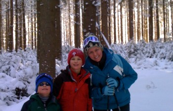 Snowshoeing in Camel's Hump State Forest, Vermont