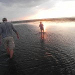 Hunting for clams around Chincoteague