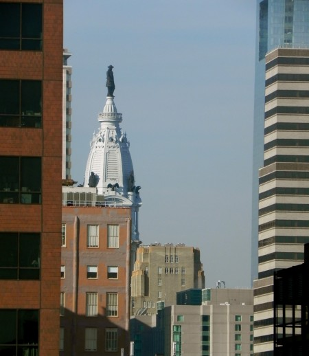 You can even see City Hall from the Hotel Monaco Philadelphia