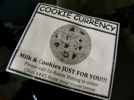 Free cookies are one of the perks for kids at the Hotel Monaco Philadelphia