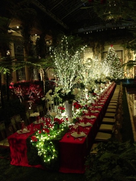 Would you like to be a holiday guest at this Longwood Gardens Conservatory table?