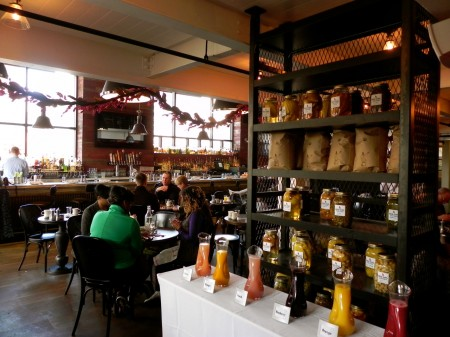 A build-your-own Bellini bar is a feature of brunch at the Red Owl Tavern.