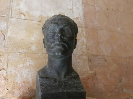 Bust of Jean Moulierat, who graciously saved Castelnau from ruin