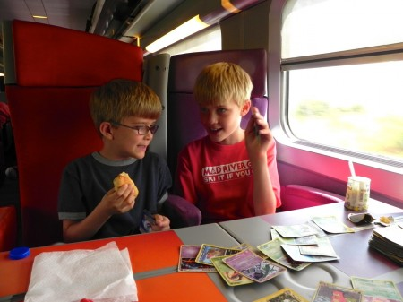 Smaller planning fail: They were sold out of most snacks on the high-speed train. We made do.