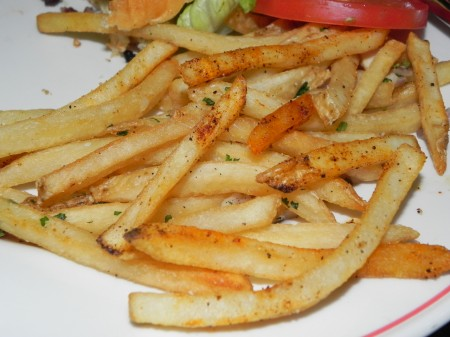 Seasoned fries are super delicious at the Red Owl Tavern