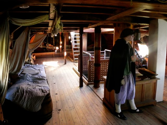 There wasn't much room belowdecks on the Susan Constant