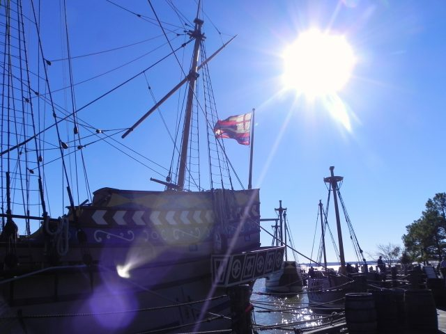 Replicas of three small boats brought 144 people to Jamestown in 1607