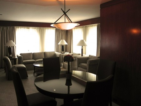 Should you choose to dine in, this suite offers ample space to do so