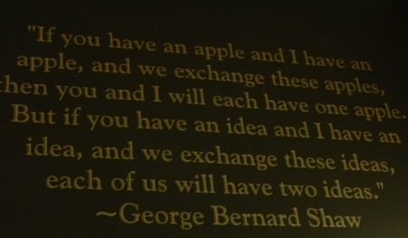 Everyone from Shaw to Ann Landers is quote on the walls at Food for Thought