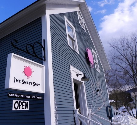 A bright pink Sweet Spot near Sugarbush, Vermont