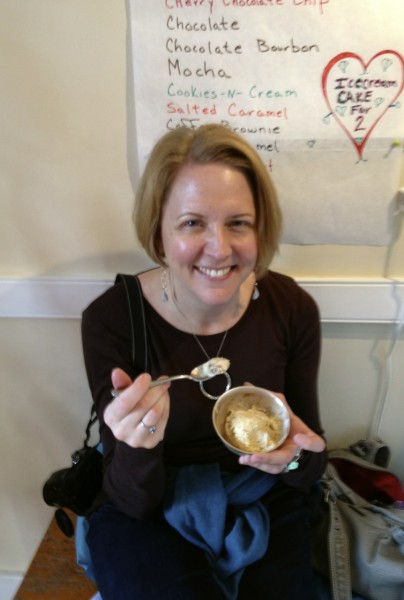Sampling Scout's Honor ice cream at The Sweet Spot