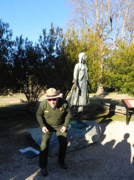 Our ranger in HIstoric Jamestowne was quite a character - and told us that this statue of Pochohontas is complete bunk