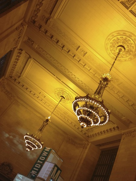The restored chandeliers in Grand Central Terminal are gorgeous.