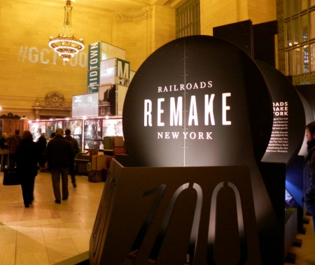 The centennial exhibit at Grand Central Station is free.