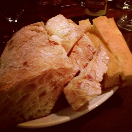 Fantastic chewy bread at the Kimpton Pazzo Ristorante in Portland, Oregon