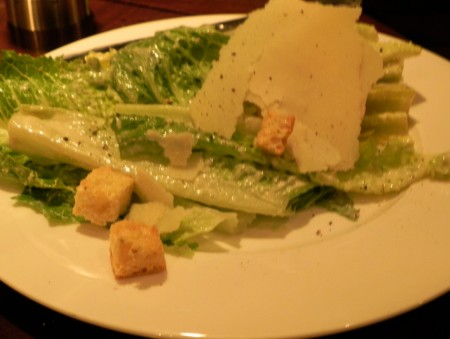 A lovely take on the Caesar salad at the Kimpton Pazzo Ristorante