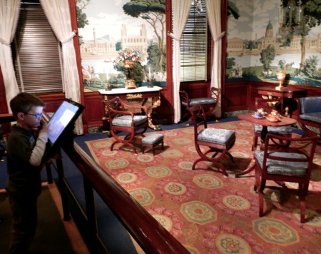 Exploring the Metropolitan Museum period rooms is fun using the touch screen.