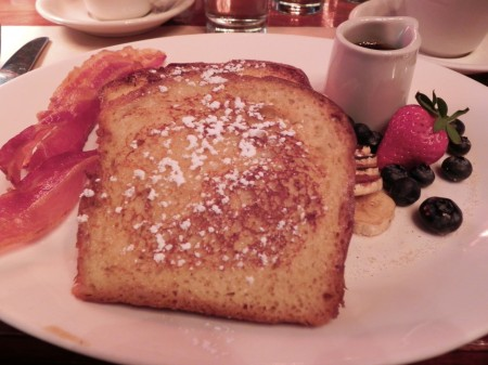 Brioche French Toast at the Pershing Square Cafe.