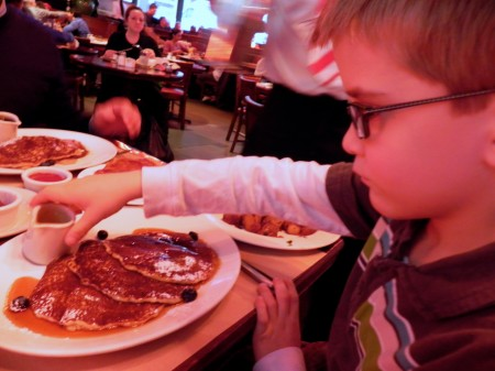 Huge pancakes at the Pershing Square Cafe are delicious.