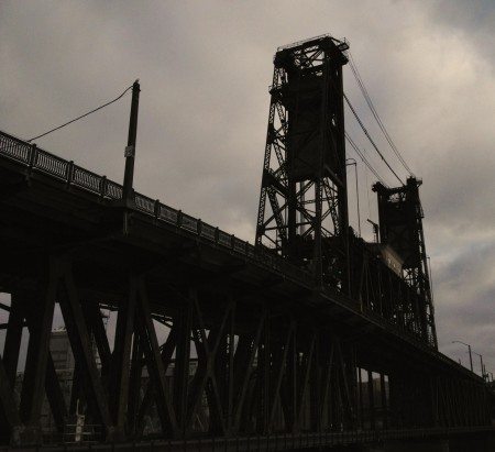 The bridges across the Willamette River in Portland are like sculpture
