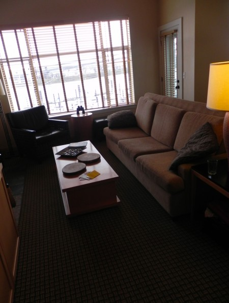 Fireplace suites at the Kimpton RiverPlace Hotel have lots of room to spread out