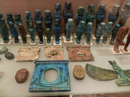 We loved the little blue men at the Metropolitan Museum of Art.