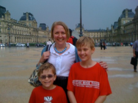 Wetter than wet outside the Louvre