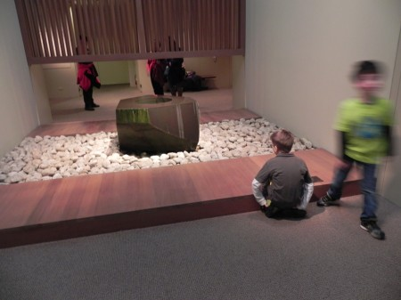 A Japanese fountain provided a peaceful moment at the Metropolitan Museum.