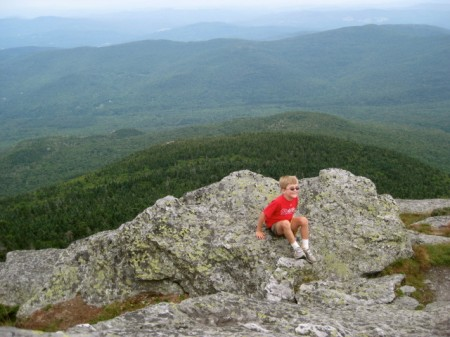 Hanging out on Camel's Hump - wish I felt this relaxed