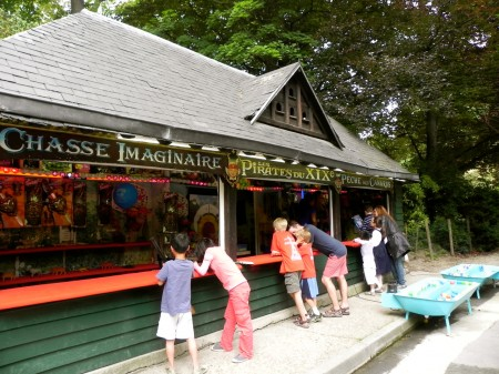 Love the old-fashioned amusements in French parks