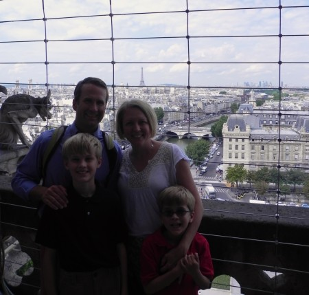 We all enjoyed climbing Notre Dame in Paris