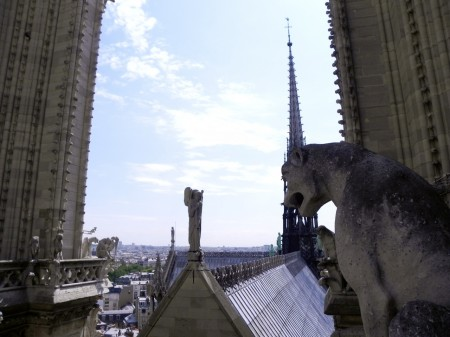 The roof of Notre Dame in Paris is a fascinating place