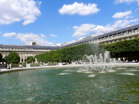 The fountain in the Jardin du Palais-Royal is a lovely place to wile away a summer afternoon