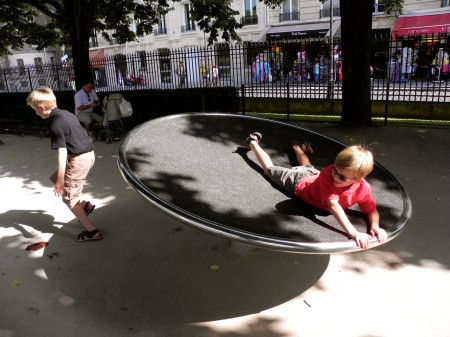 There's a playground behind Notre Dame that's shady and fun