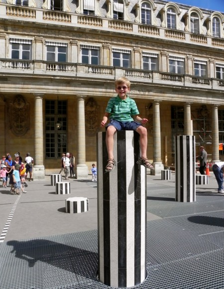 The columns in the Jardin du Palais Royal are both art and a playground