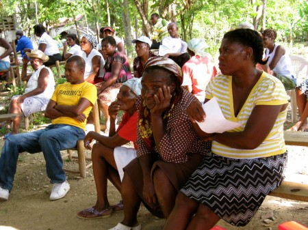 Listening in the Niva, Haiti community meeting