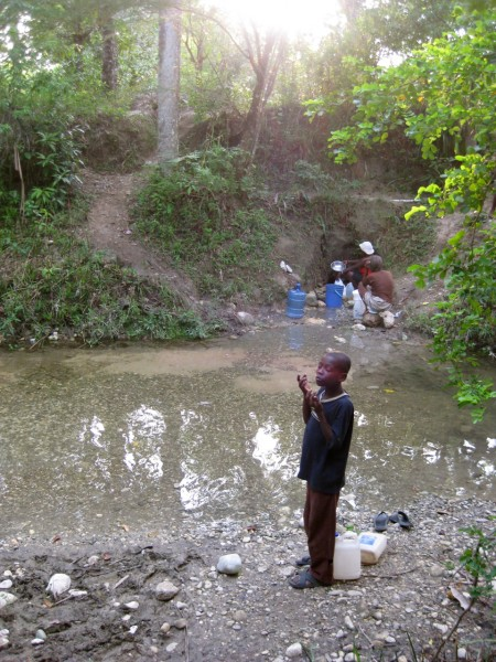 This is the main water source in Niva, Haiti