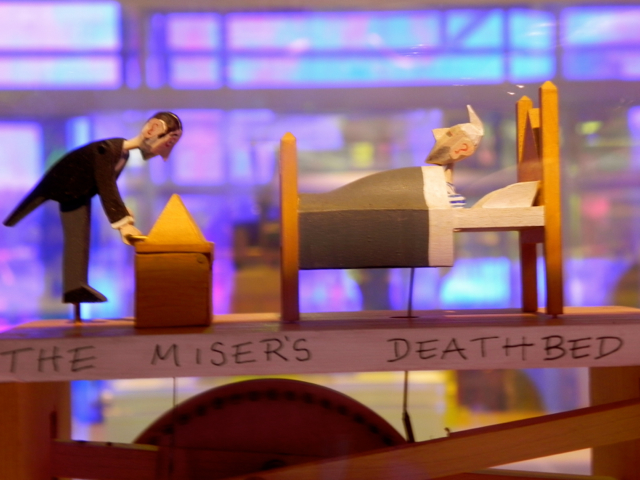 I loved the witty automatons - the miser sits up when the butler looks at his gold
