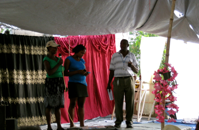 Rogé Michel honoring members of the community