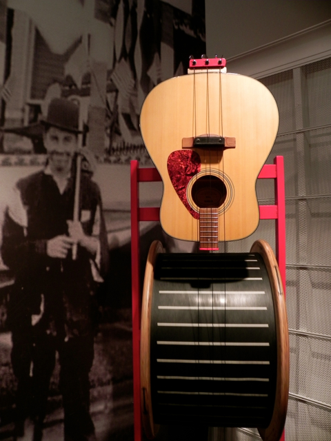 Les Paul was born near Milwaukee and has left many of his guitars to Discovery World