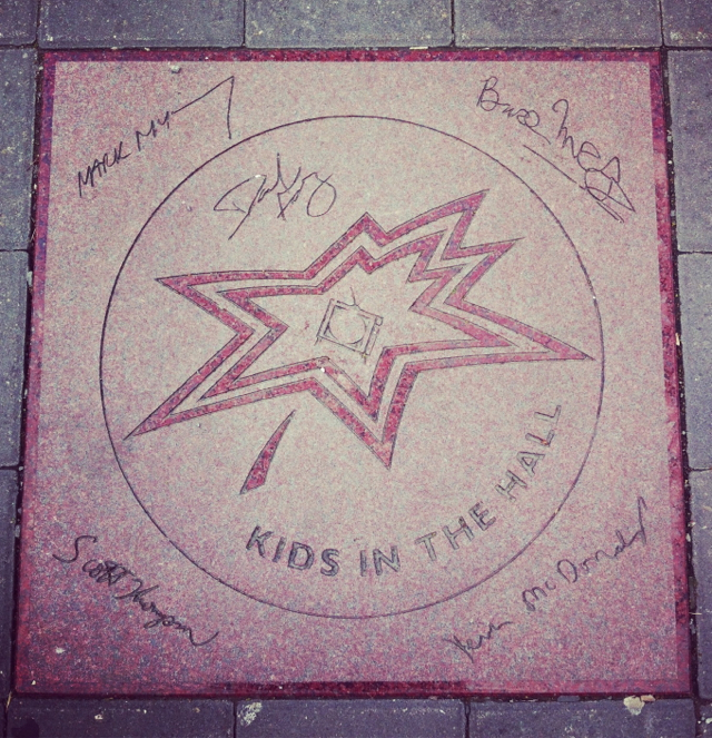 The Kids in the Hall all signed their star on Canada's Walk of Fame