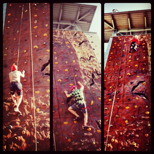 Mom on left. Dad in middle. Kid on right. He made it to the top - three times. Ah, youth. #milwaukee #wisconsin #familytravel