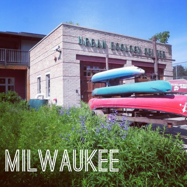 We didn't get in a canoe - but we did climb a wall. #milwaukee #wisconsin #familytravel