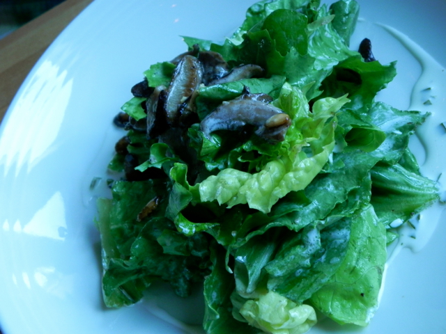 The foraged salad was as pretty to look at as it was delicious