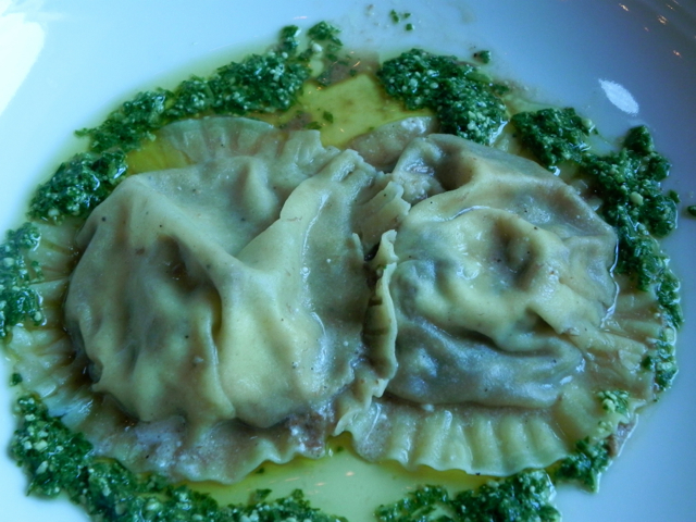 These ravioli were huge and totally delicious